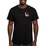 I Love American Idol Men's Fitted T-Shirt (dark)