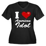 I Love American Idol Women's Plus Size V-Neck Dark