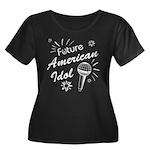 American Idol Women's Plus Size Scoop Neck Dark T-