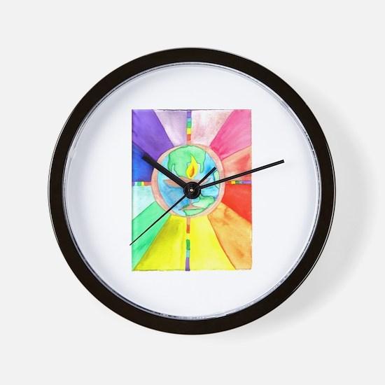 UU World Chalice Wall Clock