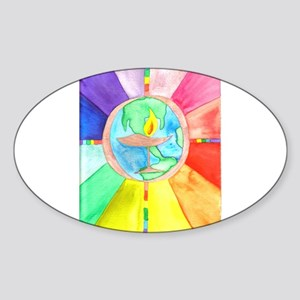 UU World Chalice Oval Sticker