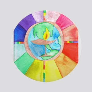 UU World Chalice Ornament (Round)