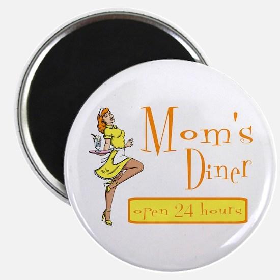 Redhead Mom's Diner Magnet