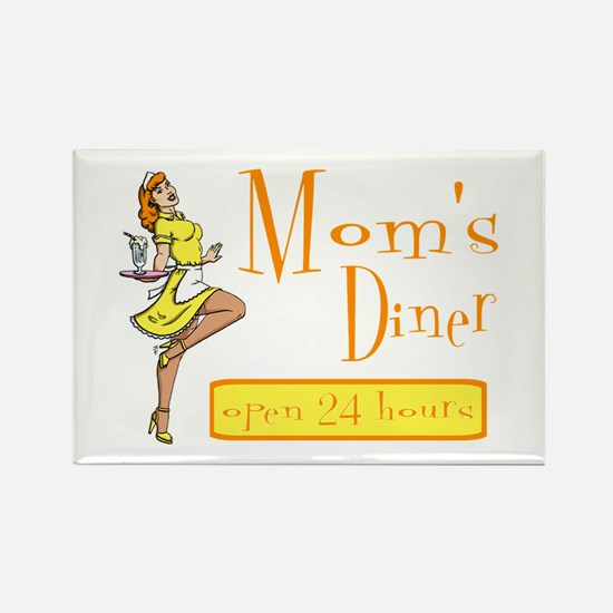 Redhead Mom's Diner Rectangle Magnet