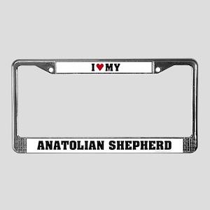 I Love My Anatolian Shepherd License Plate Frame