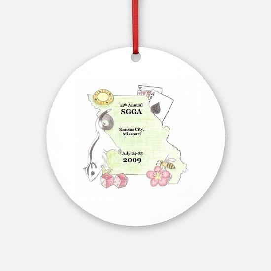 Official SGGA 2009 LOGO Ornament (Round)