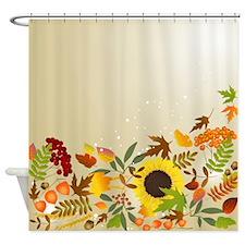 Golden Thanksgiving Shower Curtain