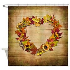 Thanksgiving Heart Shower Curtain