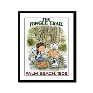 The Jungle Trail, Palm Beach Framed Panel Print