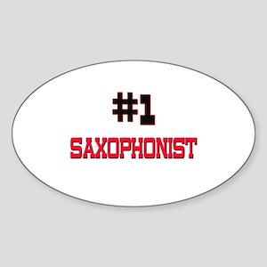 Number 1 SAXOPHONIST Oval Sticker