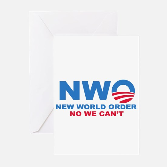 No Obama NWO No we can't Greeting Cards (Pk of 10)