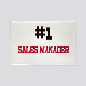 Number 1 SALES MANAGER Rectangle Magnet