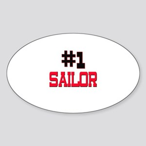 Number 1 SAILOR Oval Sticker