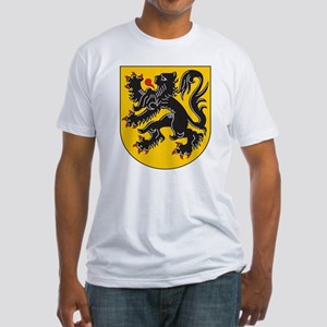 Flanders Coat Of Arms Fitted T-Shirt