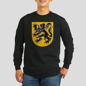 Flanders Coat Of Arms Long Sleeve Dark T-Shirt
