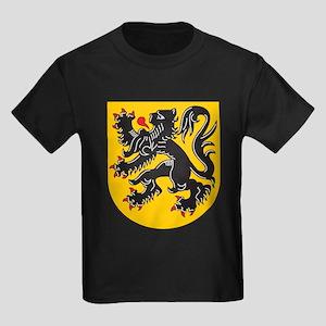 Flanders Coat Of Arms Kids Dark T-Shirt
