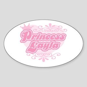 Princess Layla Oval Sticker