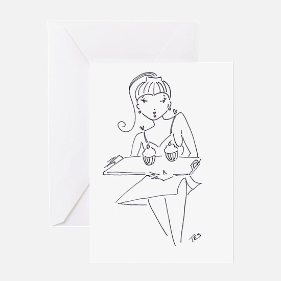 Unique Sexy french woman Greeting Card