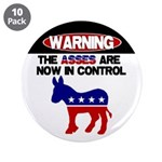 "Asses in Control 3.5"" Button (10 pack)"