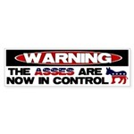 Asses in Control Bumper Sticker
