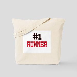 Number 1 RUNNER Tote Bag