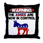 Asses in Control Throw Pillow