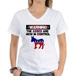 Asses in Control Women's V-Neck T-Shirt