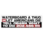 Waterboard or Let American's Sticker (Bumper 10 pk