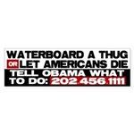 Waterboard or Let American's Bumper Sticker