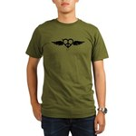 Heart Peace Wing in Black Organic Men's T-Shirt (d