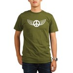 Peace Wing Original Organic Men's T-Shirt (dark)
