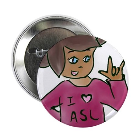 """Destiny signing """"I love you"""" 2.25"""" Button (10 pack"""
