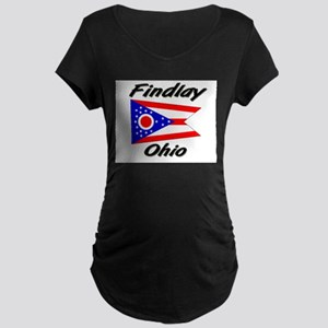 Findlay Ohio Maternity Dark T-Shirt