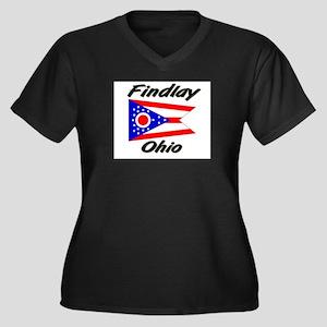Findlay Ohio Women's Plus Size V-Neck Dark T-Shirt