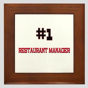 Number 1 RESTAURANT MANAGER Framed Tile