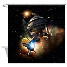 Space Station Fantasy Shower Curtain