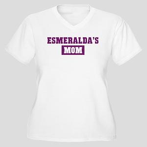 Esmeraldas Mom Women's Plus Size V-Neck T-Shirt
