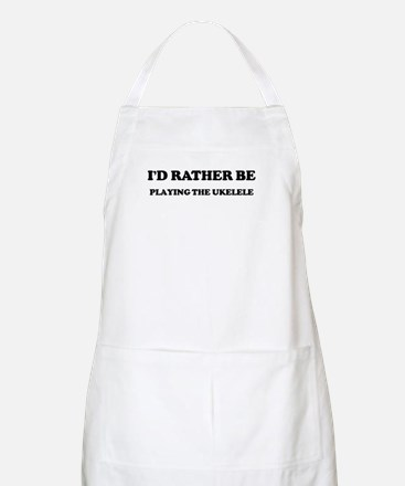 Rather be Playing the Ukelele BBQ Apron