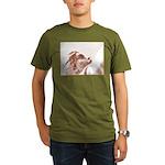looking up Organic Men's T-Shirt (dark)