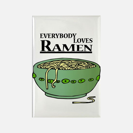 Everybody Loves Ramen (Noodles) Rectangle Magnet
