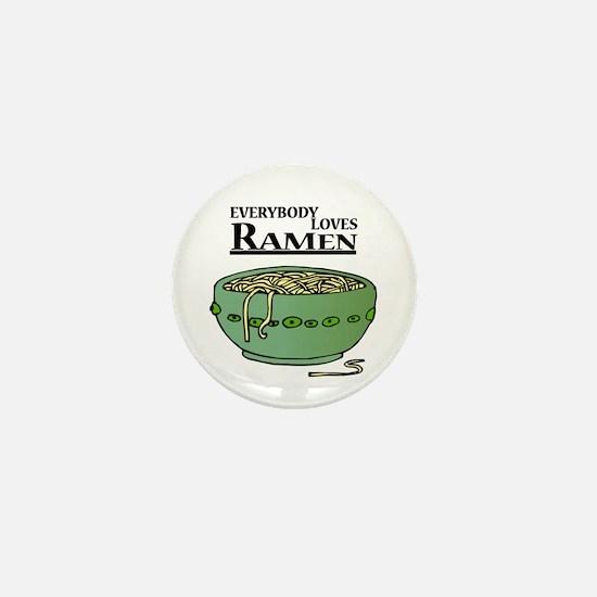 Everybody Loves Ramen (Noodles) Mini Button