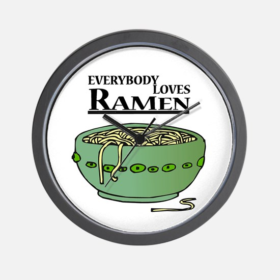 Everybody Loves Ramen (Noodles) Wall Clock