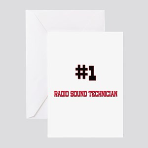 Number 1 RADIO SOUND TECHNICIAN Greeting Cards (Pk