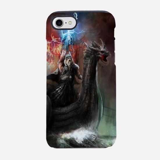 Dragon Viking Ship iPhone 7 Tough Case