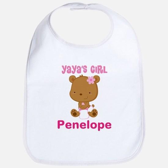 Personalized Yayas Girl Baby Bib