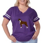 Boxer Women's Plus Size Football T-Shirt