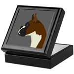 Boxer Profile Keepsake Box