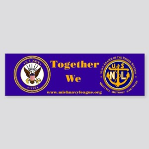 Navy League 4th of July (Bumper Sticker)