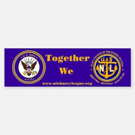 Navy League 4th of July (Bumper Sticker)