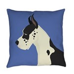 Great Dane Profile Everyday Pillow